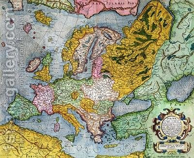 Mercator Atlas Europe in the 1590s Gerard Mercator Reproduction     Mercator Atlas Europe in the 1590s by Gerard Mercator   Reproduction Oil  Painting