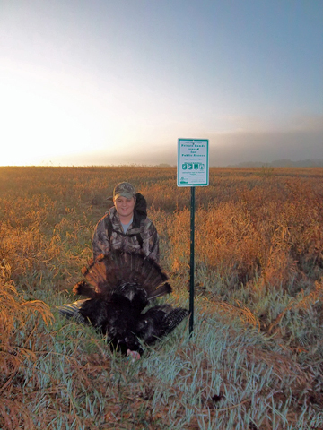 This turkey was harvested on public land made available through VPA-HIP.