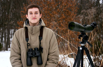 Volunteers like Joshua Cullum of Rock County are critical to completing Wisconsin's comprehensive breeding bird survey. People at all skill levels of birding are encouraged to participate. Go to wsobirds.org/atlas to learn how to get stared and for a training session near you.