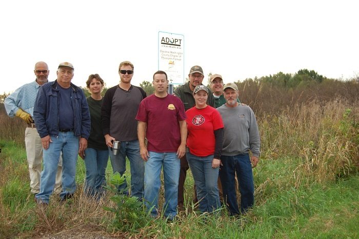 Members of the Ozaukee/Washington County Chapter of Pheasants Forever are teaming up with DNR to manage the Jackson Marsh State Wildlife Area.