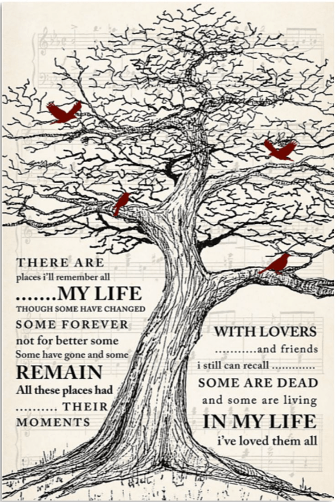 places i ll remember all my life poster