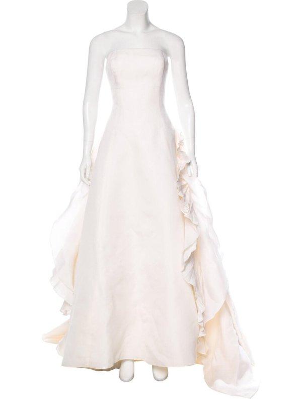 Angel Sanchez Strapless Silk Wedding Gown ($626)