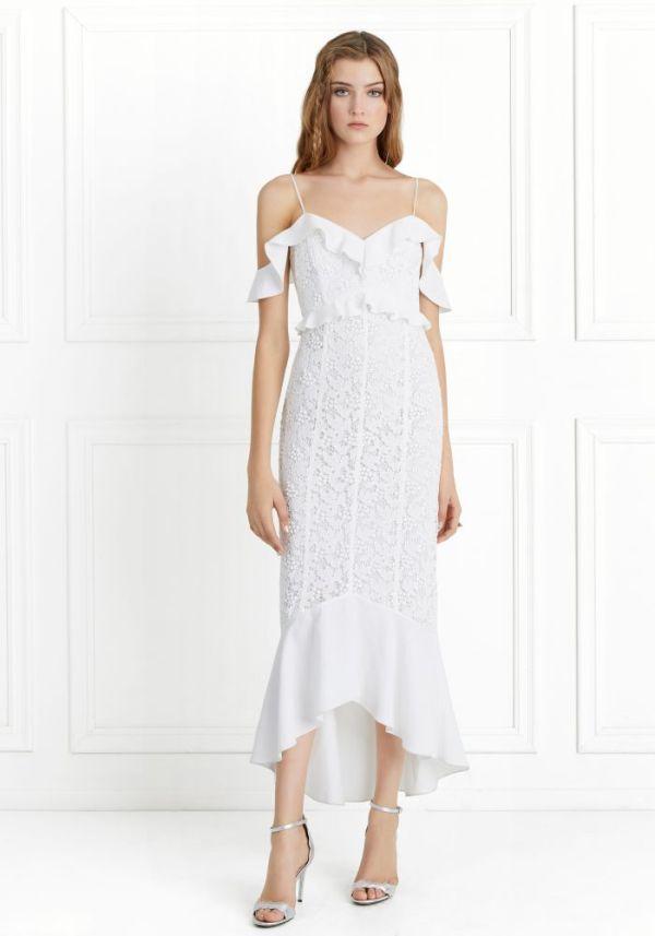Rachel Zoe Chloe Off-the-Shoulder Garden Lace Dress ($210)