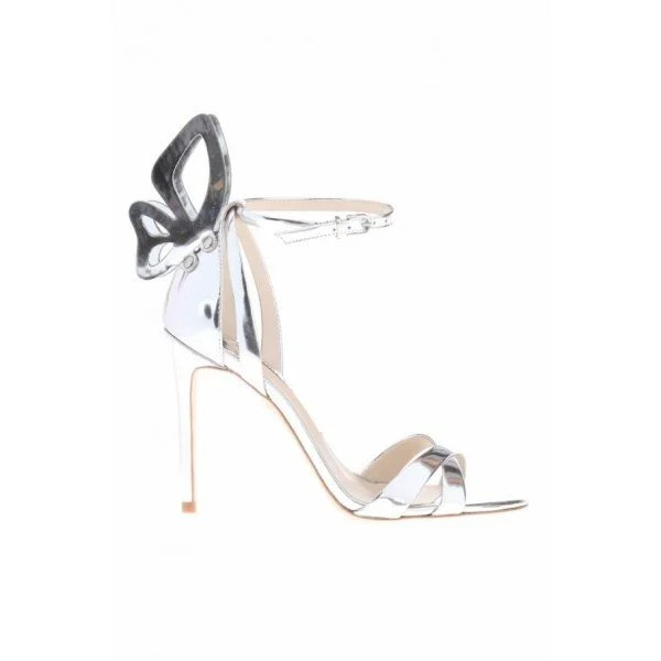Sophia Webster Madame Chiara Metallic Leather Sandals