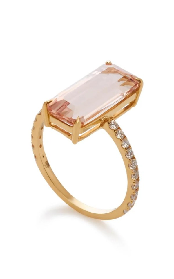 Yi Collection 18K Gold Morganite Deco Ring ($3,550)