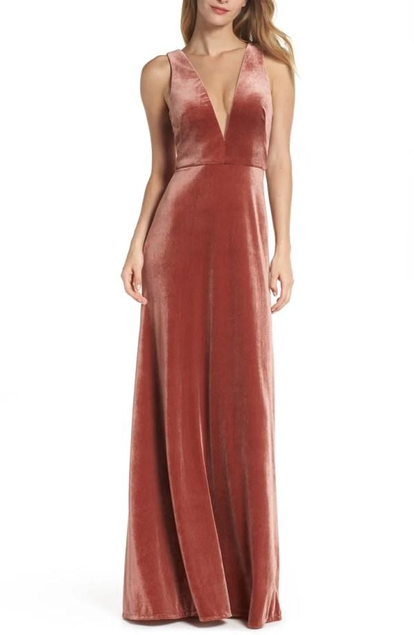 d5f4fc5c3d1 10 Velvet Bridesmaid Dresses You ll Crush Over - crazyforus