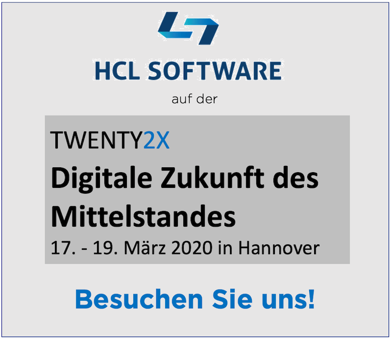 Tom Zeizels Blog: HCL Software auf der TWENTY2X in Hannover