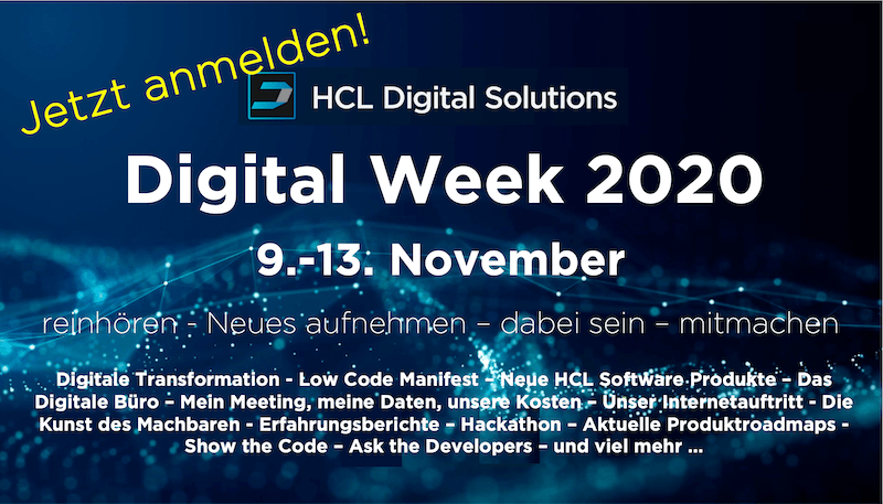 Tom Zeizels Blog: HCL Digital Week – da muss man dabei sein!