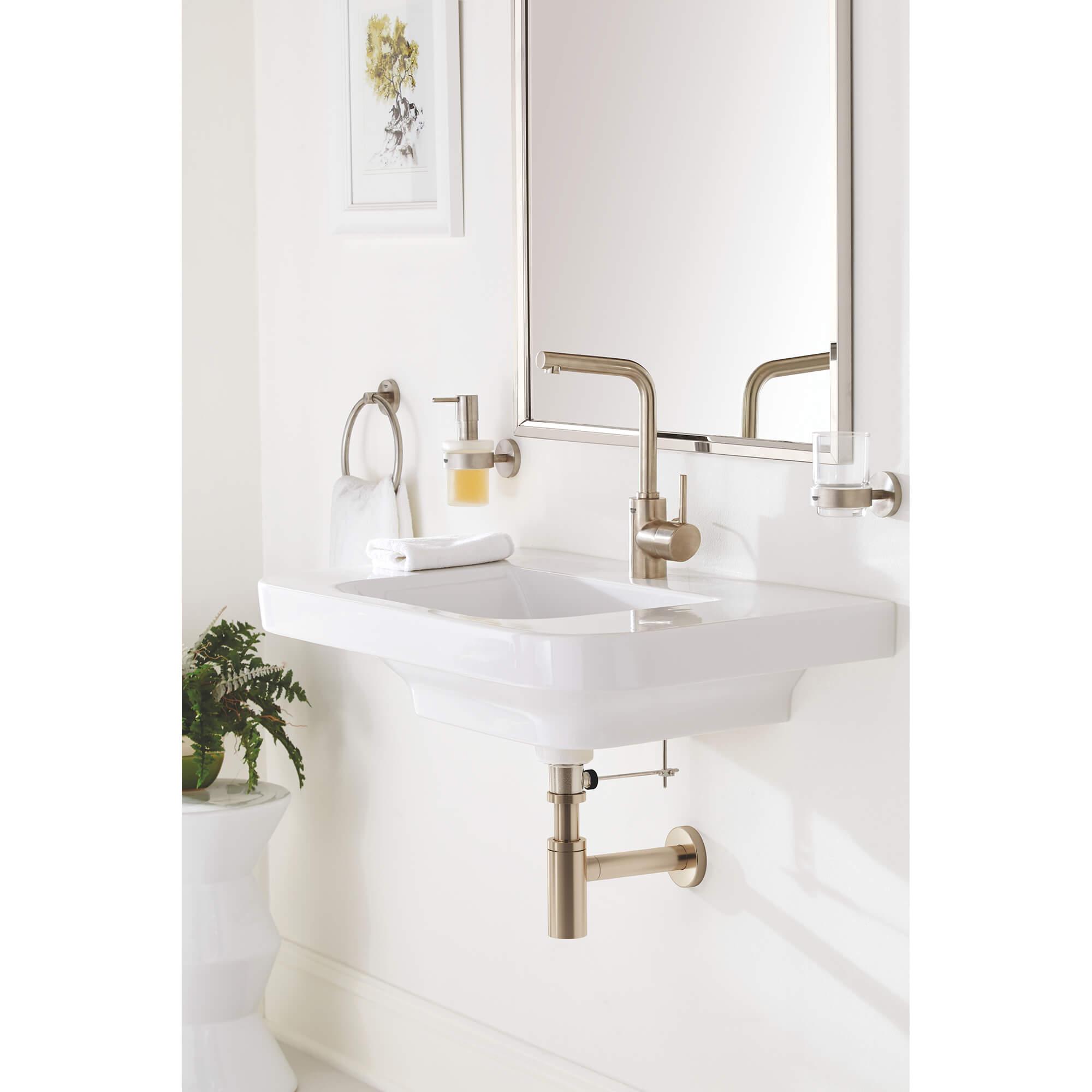 single hole single handle l size bathroom faucet 4 5 l min 1 2 gpm