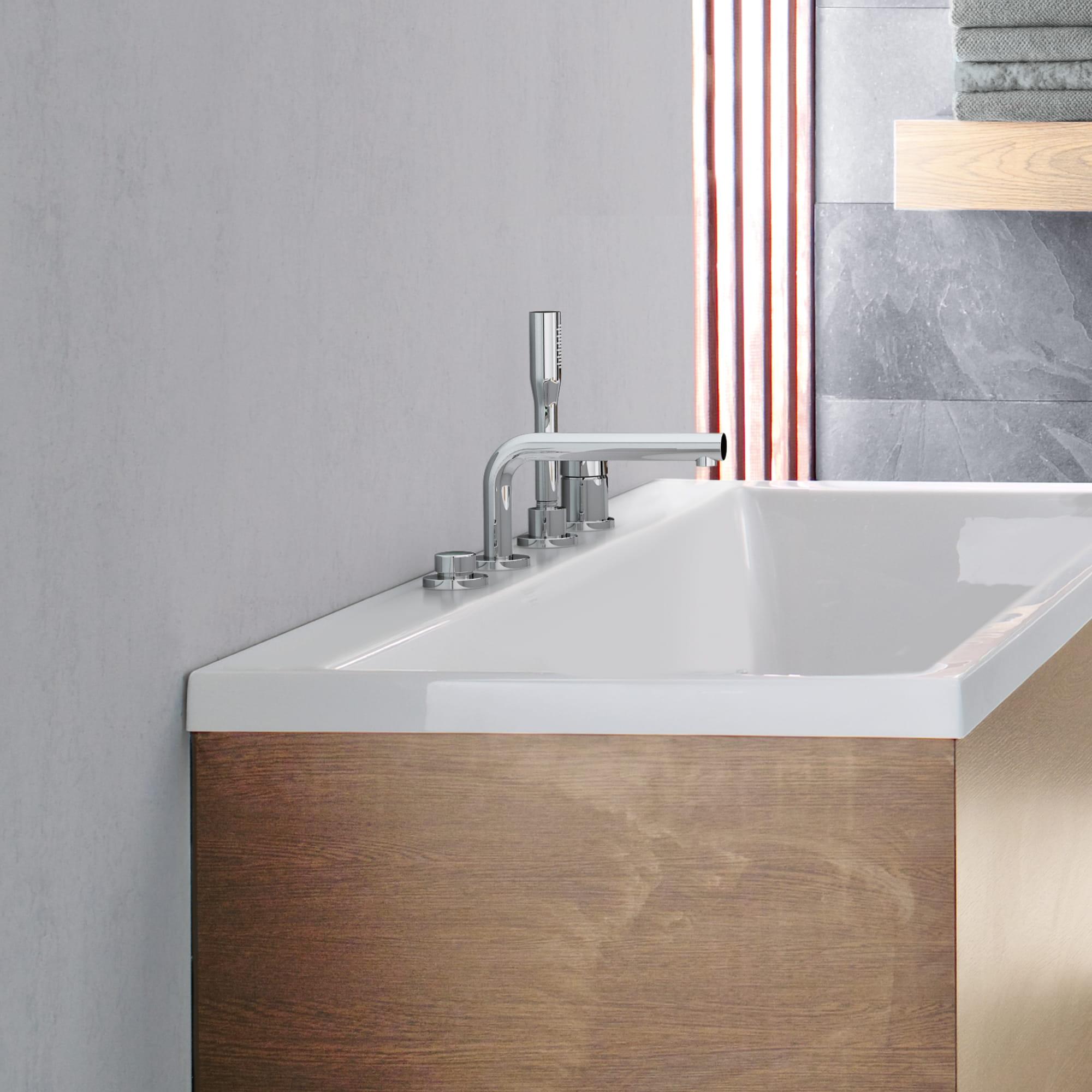 robinet de bain avec douchette