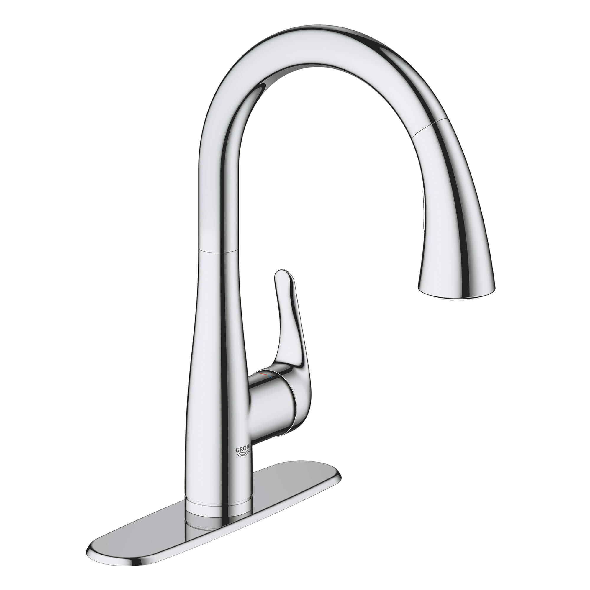 single handle pull down kitchen faucet dual spray 6 6 l min 1 75 gpm