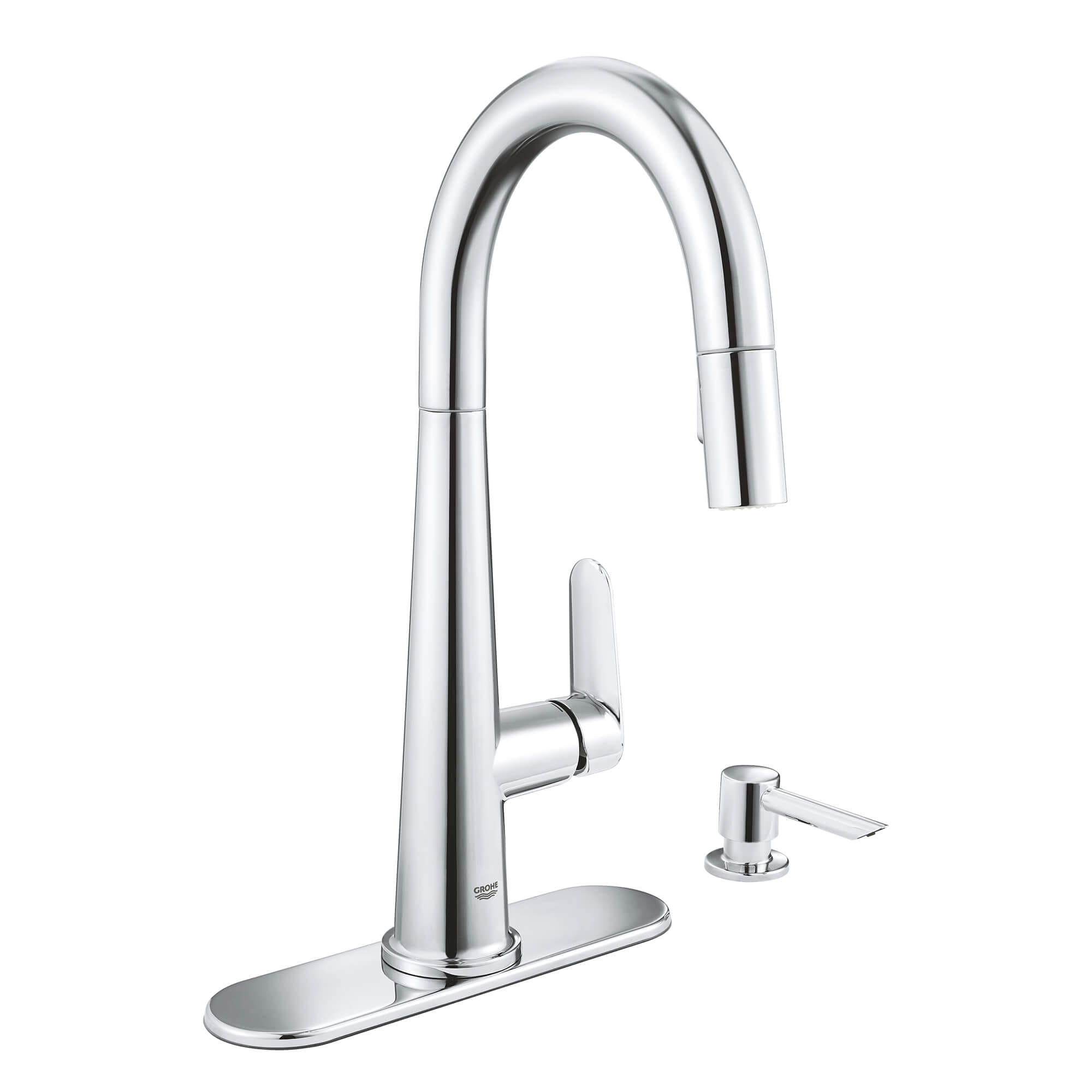 single handle pull down kitchen faucet 6 6 l min 1 75 gpm