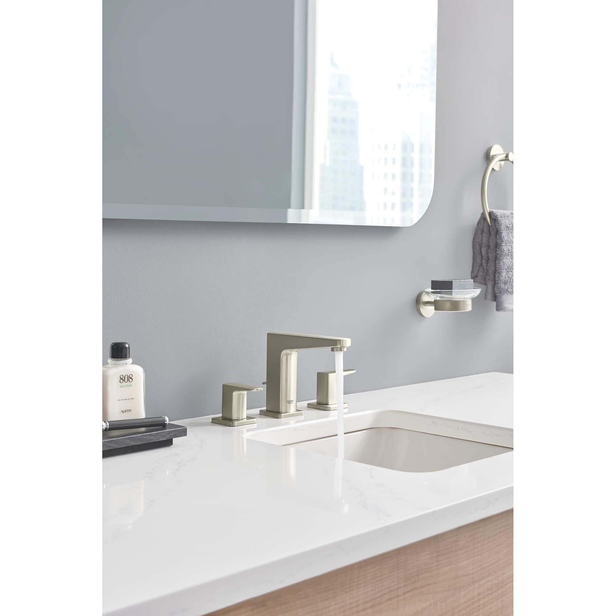 widespread two handle bathroom faucet