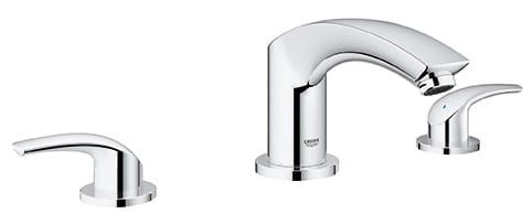 3 hole 2 handle deck mount roman tub faucet