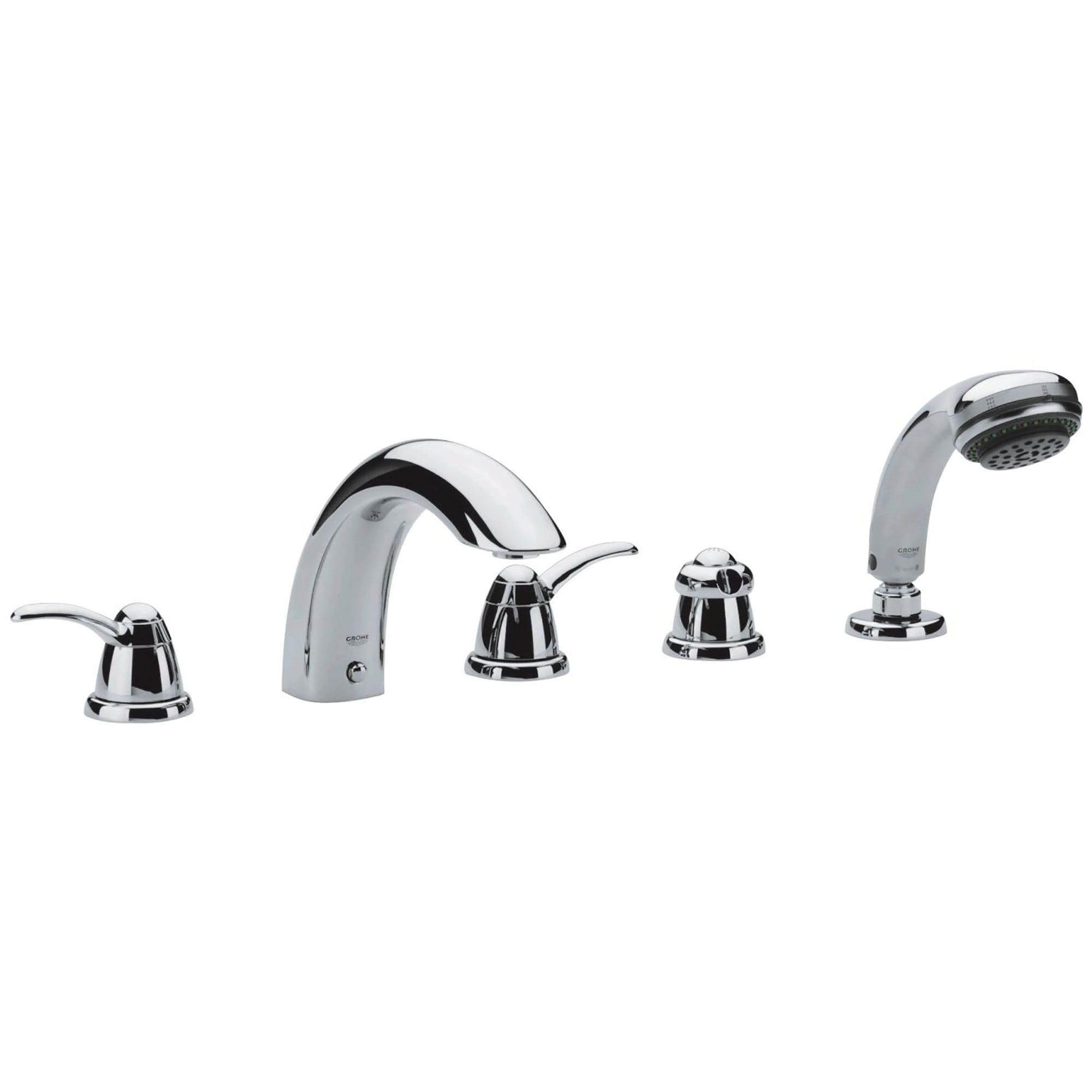 five hole bathtub faucet with handshower