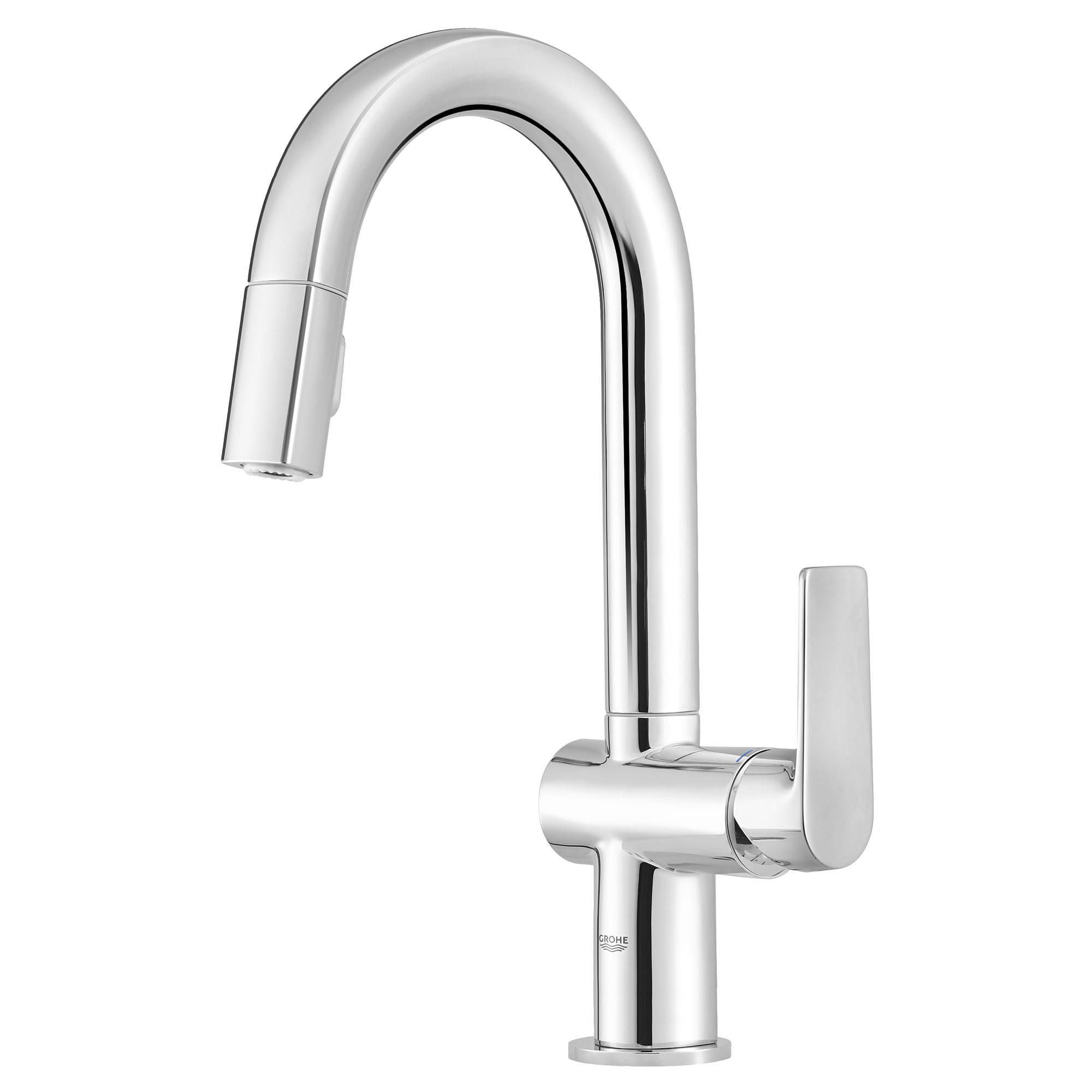 single handle pull down dual spray bar faucet 1 75 gpm