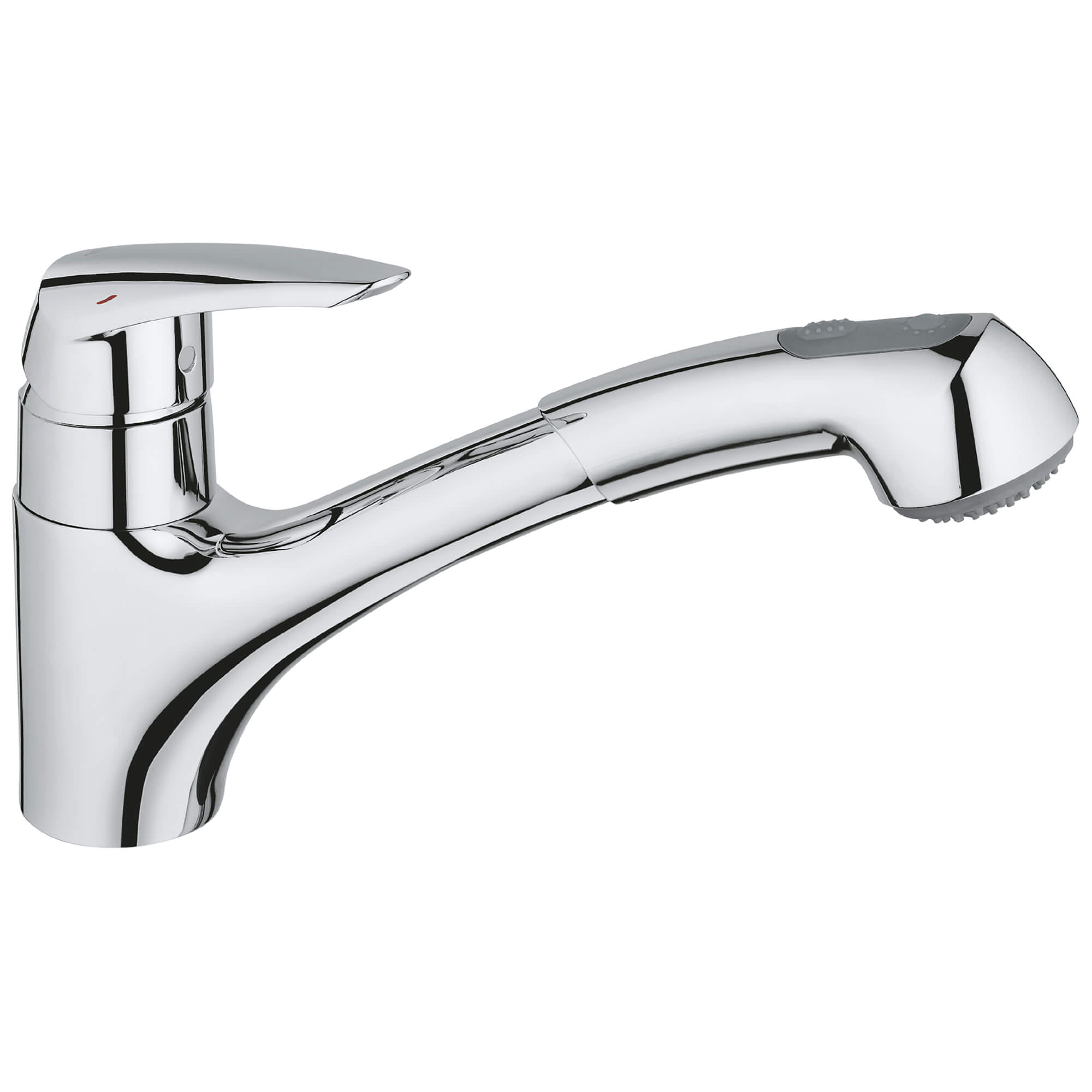 eurodisc single handle pull out kitchen faucet dual spray 1 75 gpm