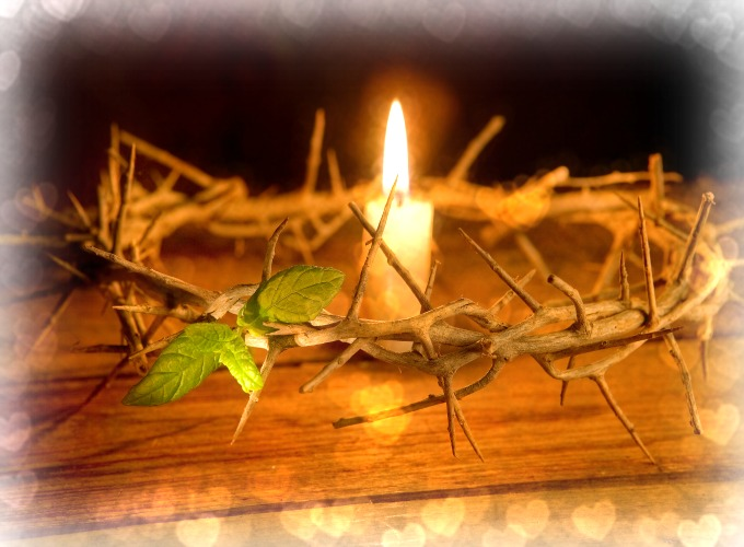 Crown of Thorns & Candle