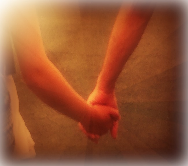 Tay & Jeff holding hands 2