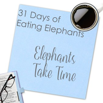 Elephants Take Time