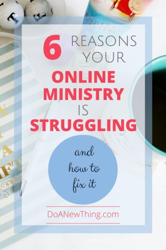 When we are trying to build an online Christian ministry or business, we have to be part writer, part tech guru, part business person, part marketer, part evangelist .... that's a lot of parts! The struggle is real.