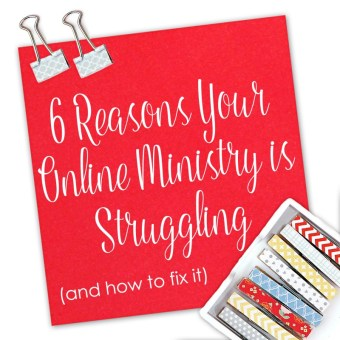 Online ministry is hard, and the struggle is real!
