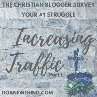 The #1 struggle of Christian bloggers is growing their blog traffic. Learn strategies for building traffic that are consistent with the values of the faith-based blogger.