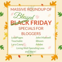 Massive Roundup of Black Friday Weekend Sales for Bloggers