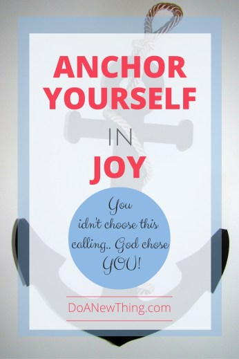 You didn't choose this calling. God chose YOU. Don't allow distractions and comparison to steal the joy of pursing your calling.