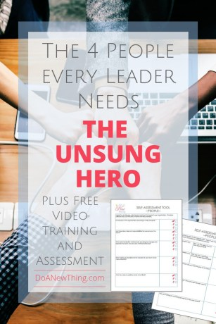 Every leader needs an unsung hero who will show up in the middle of a battle and offer support. #4PeopleEveryLeaderNeeds