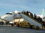 Abordando avión Transavia