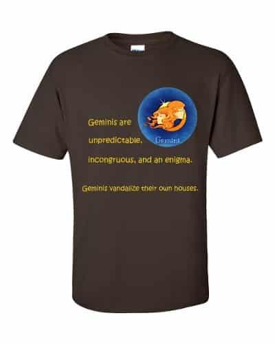 Gemini T-Shirt (chocolate)