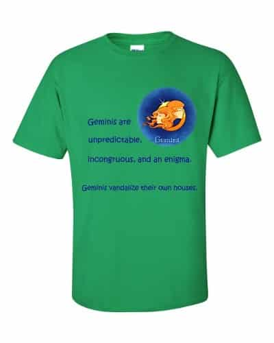 Gemini T-Shirt (shamrock)