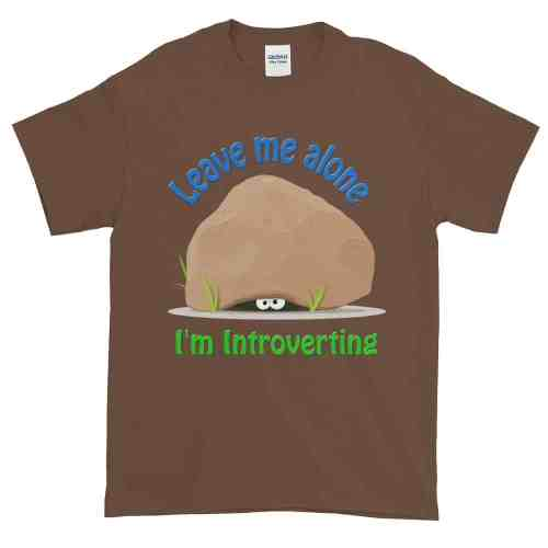 Leave Me Alone I'm Introverting T-Shirt (chestnut)
