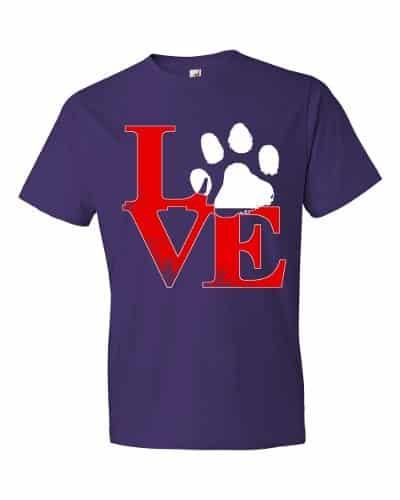 Puppy Love T-Shirt (purple)