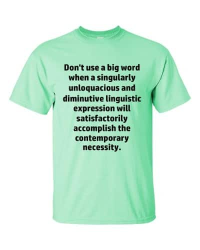 Don't Use Big Words T-Shirt (mint)