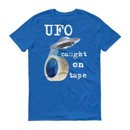UFO Caught on Tape T-Shirt (royal)