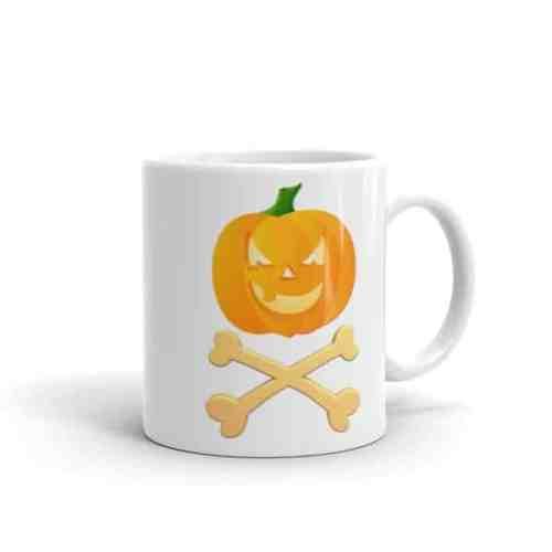 Jack O'Lantern Crossbones Halloween Pirate Mug