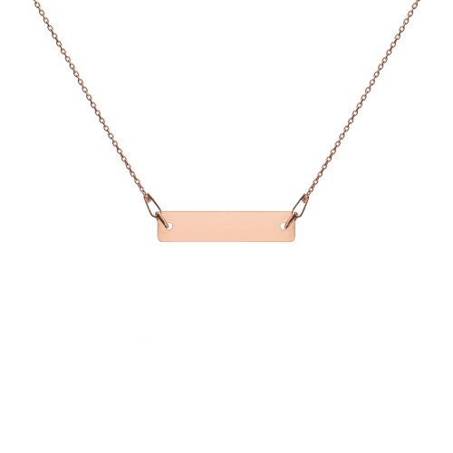 18K rose gold bar chain necklace