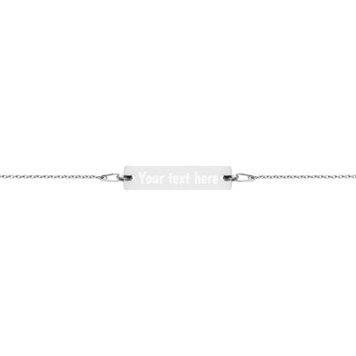 white rhodium bar chain bracelet