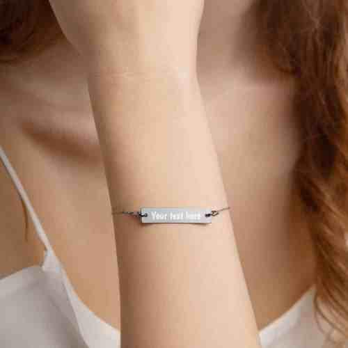 black rhodium bar chain bracelet