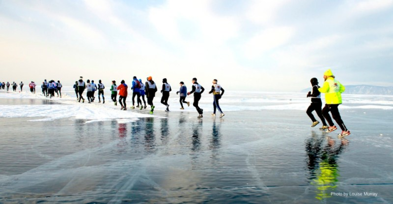 9th Lake Baikal Ice marathon in Siberia, Russian Federation March 3 2013 Only 150 entrants are accepted for the gruelling marathon, rated one of the toughest in the world, less than 100 run the full marathon, the rest complete a half marathon distance