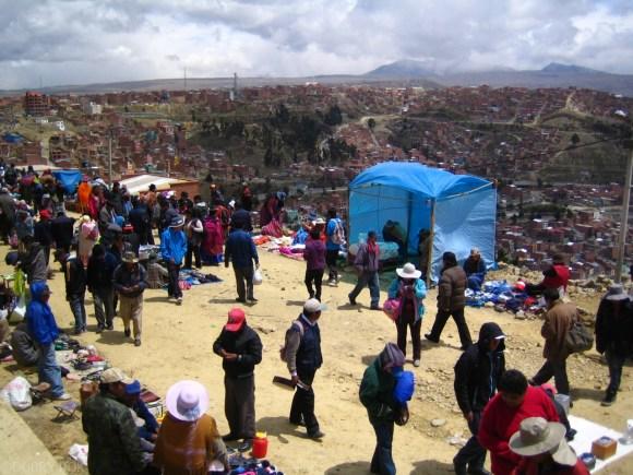 Najwiekszy targ w Boliwii