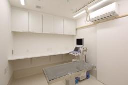どうぶつの内科・皮膚科クリニックの超音波検査室