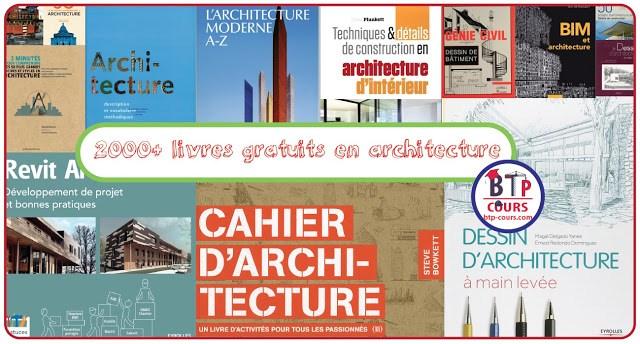 Plus de 2000 livres gratuits pour vous lancer dans l'architecture