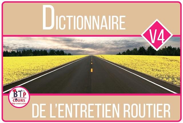 entretien routier en dictionnaire