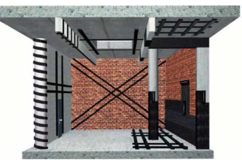Eléments de structure pouvant être renforcé par matériaux composites