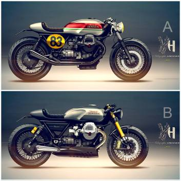 Moto Guzzi Cafe Racer Designentwurf