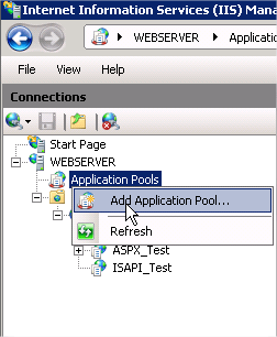 Add application pool