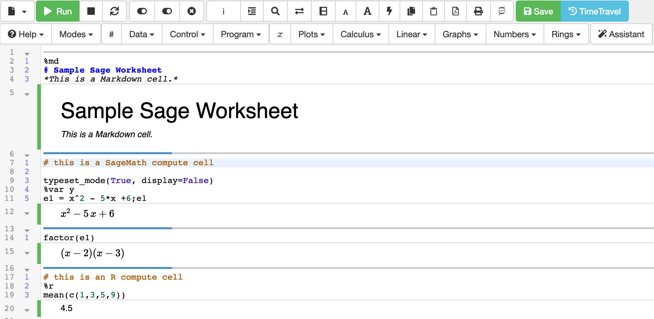 Sage Worksheets